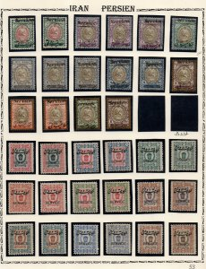 IRAN/PERSIA: Overprint/Service Examples - Ex-Old Time Collection - Page (41533)