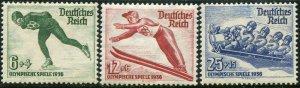 Deutsches Reich  Sc.# B79-81    Mi.# 600-2    MH*