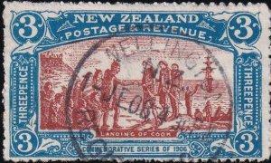 New Zealand 1906 SC 124 Used