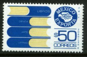 MEXICO Exporta 1133Var $50P Books Unwmkd Fosfo Paper 5 MNH