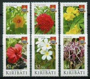 Kiribati 2017 MNH Flowers of Kiribati 6v Set Nature Flora Plants Stamps