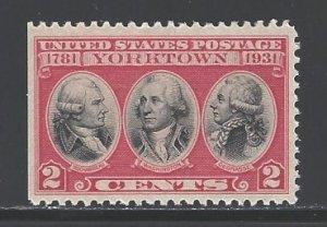 U. S. Sc # 703 mint never hinged (BBL)