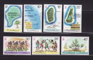Tuvalu 85-91 Set MNH Independence (B)
