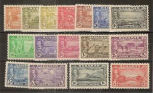 Bahamas 1948 Eleuthera Set SG178-193 Mint Cat£75