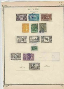 costa rica 1923 stamps on album page ref r11846
