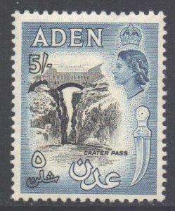Aden Scott 58a - SG68, 1953 Elizabeth II 5/- Black MH*