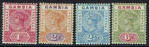 GAMBIA 1898 QV KEY TYPE RANGE TO 6D