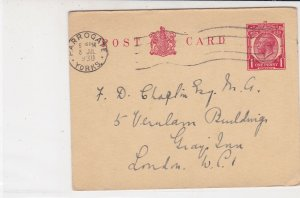 England 1930 Harrogate Yorks Cancel Please Send Certificate Stamp Card Ref 34861