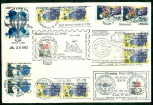 MULTI SPACE SKYLAB COVER WITH MANY CANCELS