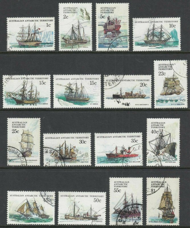 1979    AUSTRALIAN ANTARCTIC TERRITORY   -  SG.  37 / 52  -  SHIPS  -  USED