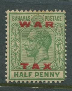 Bahamas -Scott MR11 - Queens Staircase War Tax -1919 - MH - Single 1/2p Stamp