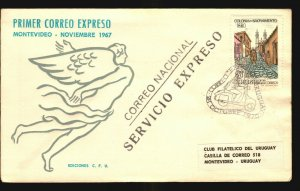 Motorbike scooter vespa 1970 Express mail special cover unusual motrocycle