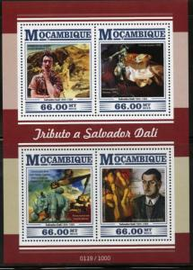 MOZAMBIQUE 2015 TRIBUTE TO SALVADOR DALI SHEET MINT NEVER HINGED