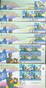 UNITED NATIONS 1998 PEACE KEEPING  SET OF 15  FIRST DAY COVERS AS SHOWN