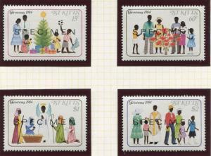 St Kitts - Scott 161-64 - Specimen - Christmas -1984 - MNH- Set of 4 Stamps