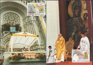 VATICAN POPE JOHN PAUL II VISITS 1986 8 MAXICARD S POLAND CANADA AMERICA R18075