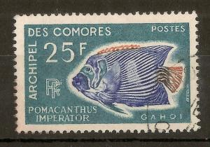 Comoros 1968 25F Angel Fish SG70 Fine Used
