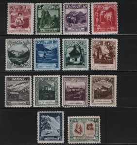 LIECHTENSTEIN 94-107 (14) Set, Hinged, 106 Is Thin,  1930 Chapels
