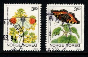 Norway - #1033 - 1034 Butterflies set/2 - Used