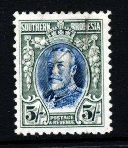 SOUTHERN RHODESIA King George V 1931 5s. Blue & Blue-Green SG 27 VFU