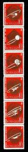 Russia Scott 2835a MNH** space achievement set strip