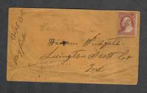 US Sc#25 Mayfield Indiana M/S Cancel DPO 8 Rare! Nice Cover