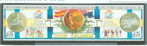 Cook Islands 1992 Scott 1108-1109 Olympics MNH