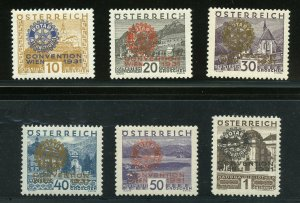 AUSTRIA  SCOTT #B87/92 ROTARY  MINT NEVER HINGED