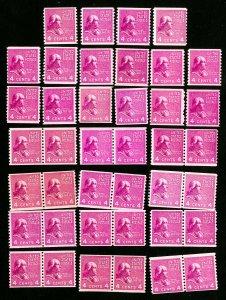 US Stamps # 843 F-VF OG NH Lot of 40 Catalog Value $300.00
