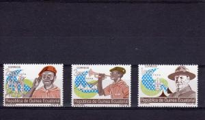Equatorial Guinea 1990 Boy Scouts-Baden-Powell set (3) Sc.#140/ 142  MNH