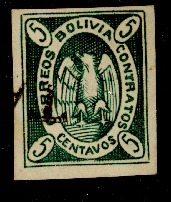 Bolivia #2 Used F-VF Cat$25