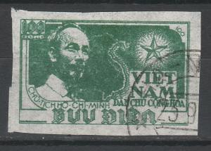 NORTH VIETNAM 1951 HO CHI MINH MAP 100D USED