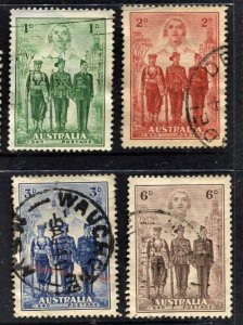 STAMP STATION PERTH  Australia #184-187 Participation WWII Set Used - CV$25.00