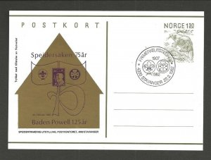 Norway Stavanger 1982 Boy Scout Girl Guide postcard cancel