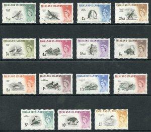 Falkland Is SG193/207 1960 Birds Set of 15 U/M