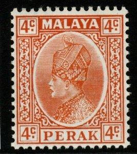 MALAYA PERAK SG90 1935 4c ORANGE MTD MINT