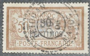 DYNAMITE Stamps: French Morocco Scott #36 – USED