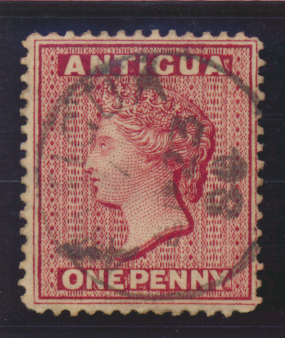 Antigua Stamp Scott #8 Used - Free U.S. Shipping, Free Worldwide Shipping Ove...