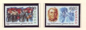 Norway Sc 922-23 1988 Salvation Army Anniversary stamp set mint NH