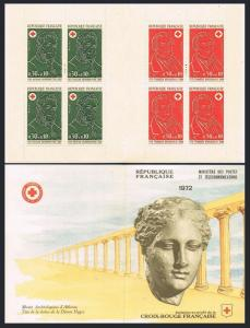 France B461a booklet,MNH.Michel 1815-1816 MH. Red Cross-1972.Portraits.Dutrich,
