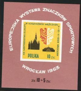 Poland Scott 1165 MNH** 1963 mini sheet
