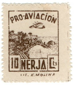 (I.B) Spain Civil War Cinderella : Aviation Fund 10c (Nerja)