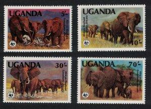 Uganda WWF African Elephant 4v SG#406-409 MI#361-364 SC#371-374 CV£9.5