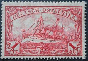 German East Africa 1915 One Rupien Michel 38IIB mint