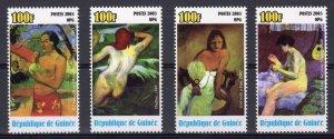 Guinea 2003 PAUL GAUGUIN Famous Nudes Paintings Set  (4) MNH