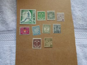 MONACO STAMPS LOT. 9 stamps # 8
