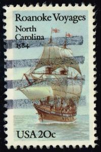 US #2093 Roanoke Voyages; Used (0.25)