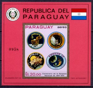 Paraguay space 1971 Мi-Block 163 Apollo 11-14