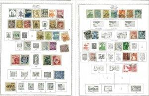 Japam 1876-1966 M & U (Mostly) Hinged on Minkus Global Pages.