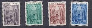 SURINAME, 1954 Child Welfare Fund set of 4, lhm.
